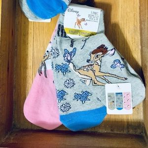Disney Bambi Shoe Liner Socks 3 Pair